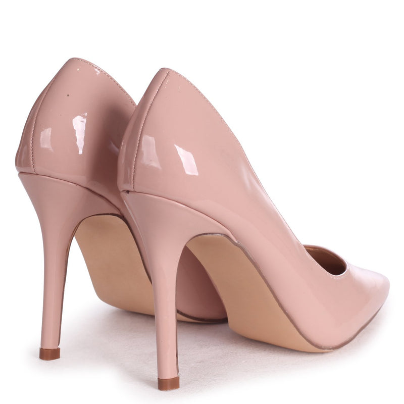 DYNAMIC - Nude Patent Stiletto Pointed Court Heel