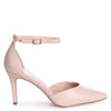 MACI - Nude Nappa Stiletto Court Heel With Ankle Strap
