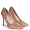DYNAMIC - Gold Glitter Stiletto Pointed Court Heel