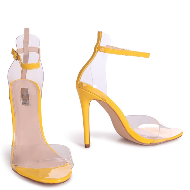 FIESTY - Yellow Patent Perspex Stiletto Heel