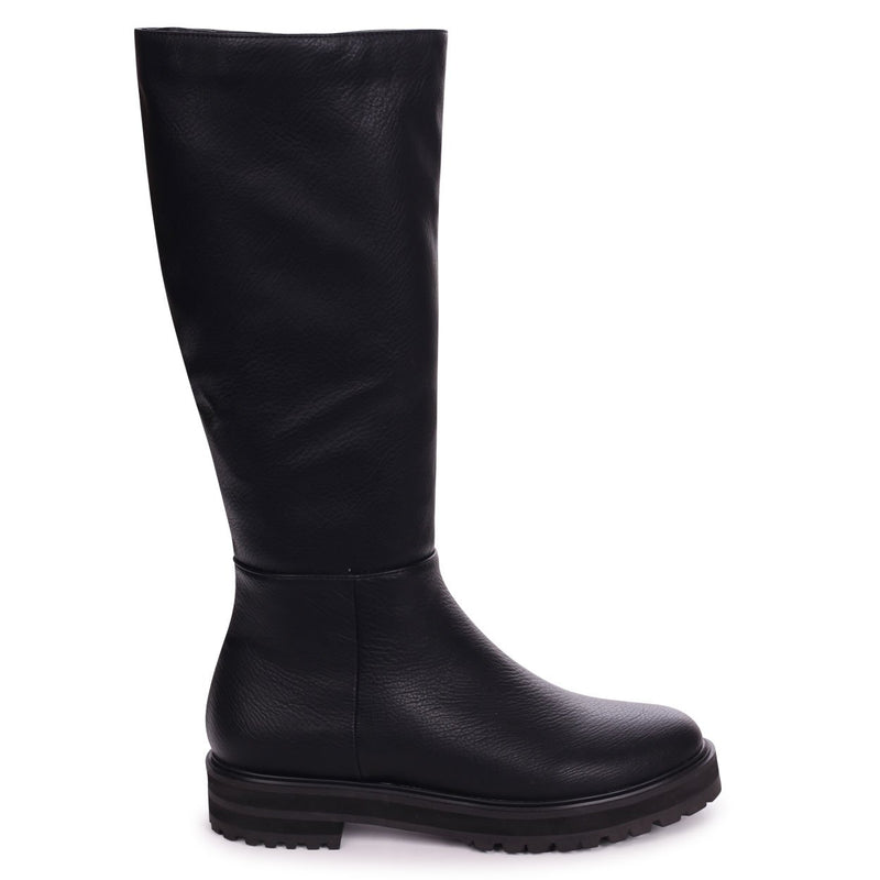 SAVAGE - Black Nappa Classic Riding Boot