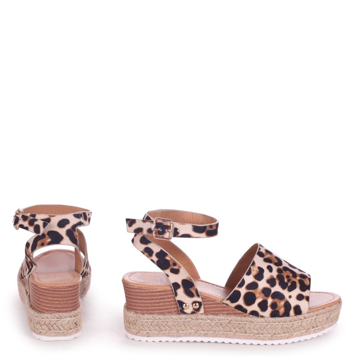 1b1b2fcf9b8 TIMELESS - Leopard Suede Two Part Espadrille Inspired Platform Wedge