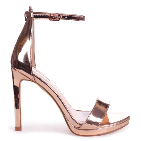 NENA - Silver Nappa Barely There Heel