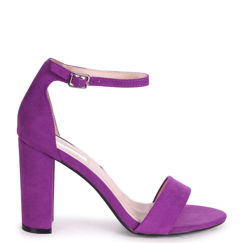NELLY - Aubergine Suede Suede Single Sole Block Heel
