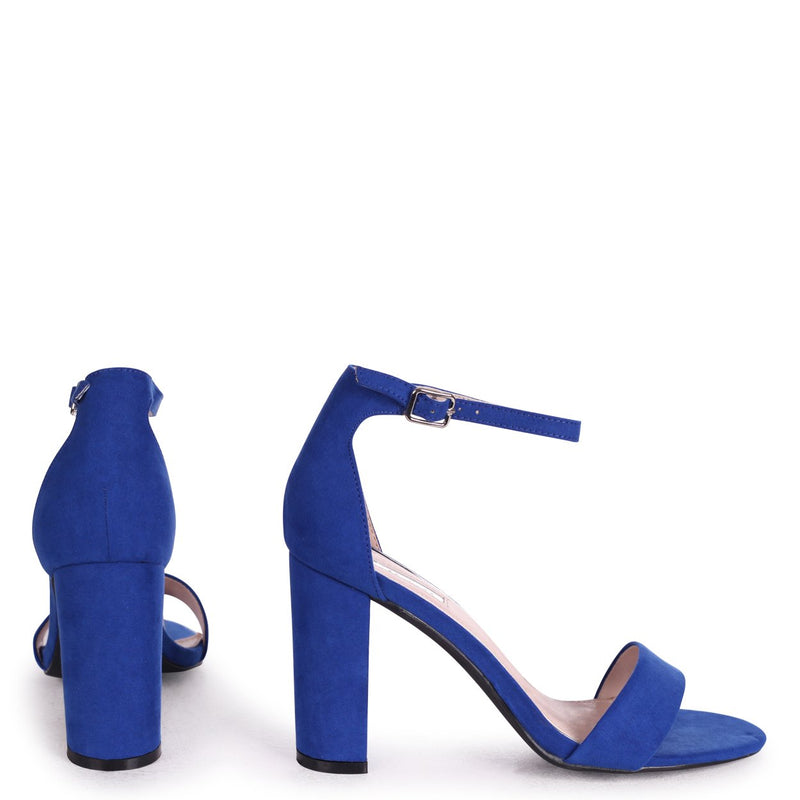 NELLY - Blue Suede Suede Single Sole Block Heel