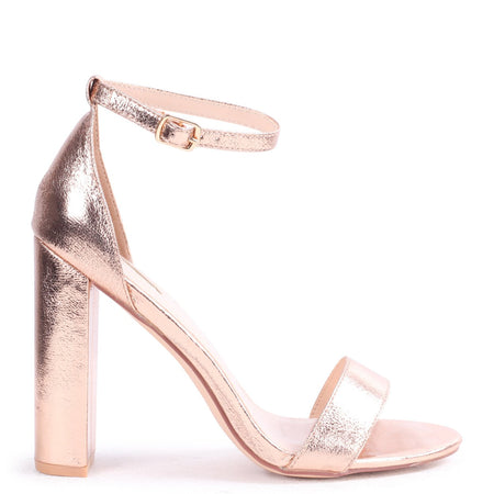 GABRIELLA - Silver Metallic Barely There Stiletto Heel With Slight Platform