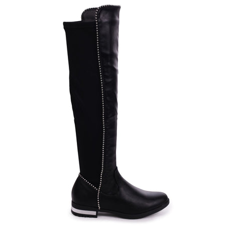 ONLY LOVE - Black Nappa Round Toe Block Heeled Boot
