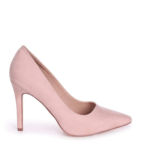 eabfde63e2208 MELANIE - Tan Nappa Tie Up Flatform with All Over Floral Detail · COLETTE -  Nude Suede Classic Court Shoe with Stiletto Heel