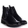 RULE - Black Croc Classic Chelsea Boot With Silver Black Detail