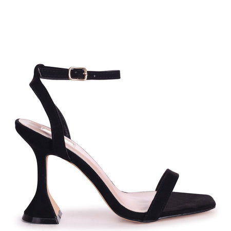 TIFFANY - Black Croc Patent Block High Heel Heel Court Shoe