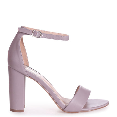 ELLEN - Silver Cracked Metallic Closed Back Barely There Platform Block Heel
