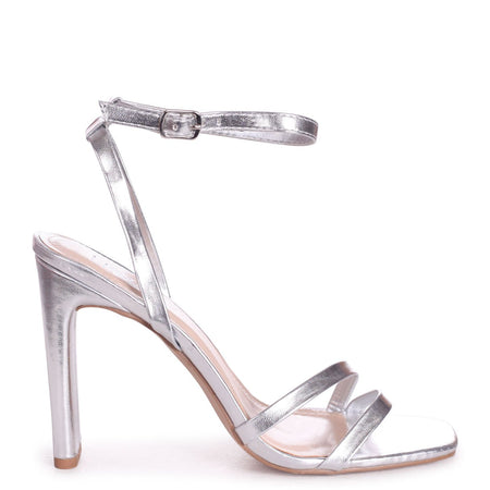 KORI - Rose Gold Barely There With Glitter Block Heel