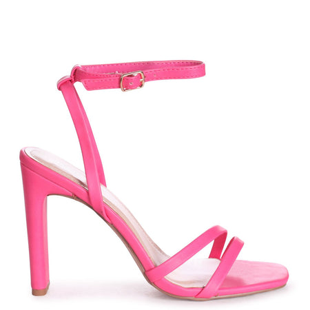 GABRIELLA - Fuchsia Suede Barely There Stiletto Heel With Slight Platform