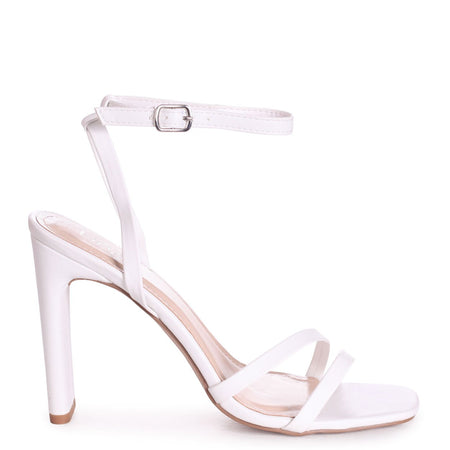 SELENA - Sillver Nappa Barely There Block High Heel