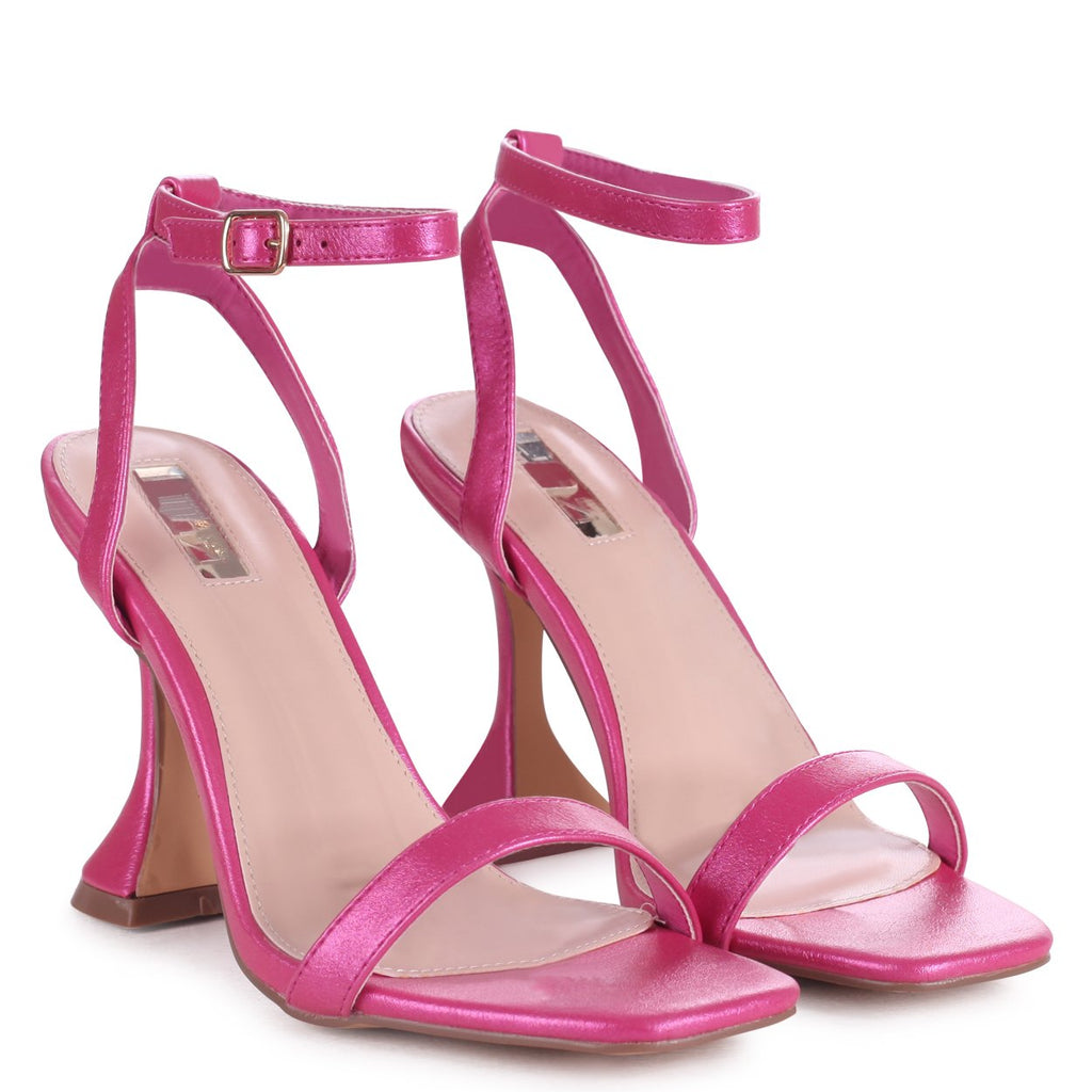 HERO - Fuchsia Shimmer Barely There With Flared Heel