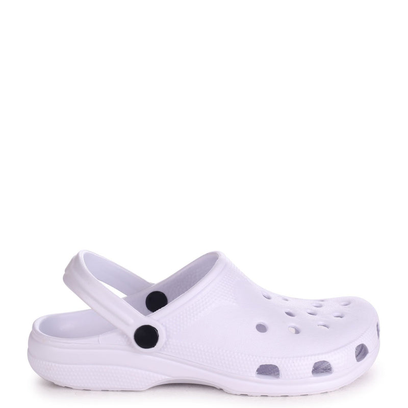 COBY - White Clog Style Lightweight Mule