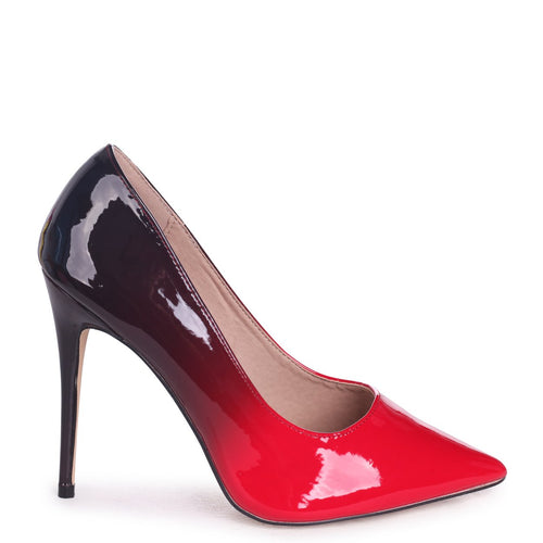 PHOENIX - Blood Red Ombre Effect Stiletto Court Heel