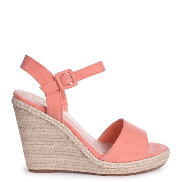 DORI - Coral Suede Barely There Wedge