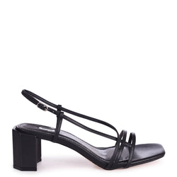 TOYKO - Black Strappy Block Heeled Sandal
