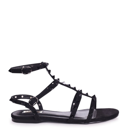 CELESTE - White Croc Gladiator Style Sandal With Studded & Rope Sole