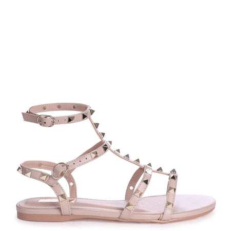 STARLIGHT - Peach Suede Sling Back Strappy Slim Heel