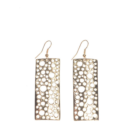 Laser Cut Rectangle Earrings