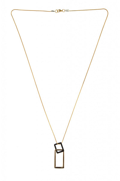 Double Rectangle Multi Chain Necklace