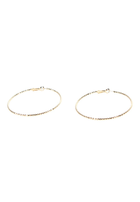 Gold Diamante Hoop Earrings