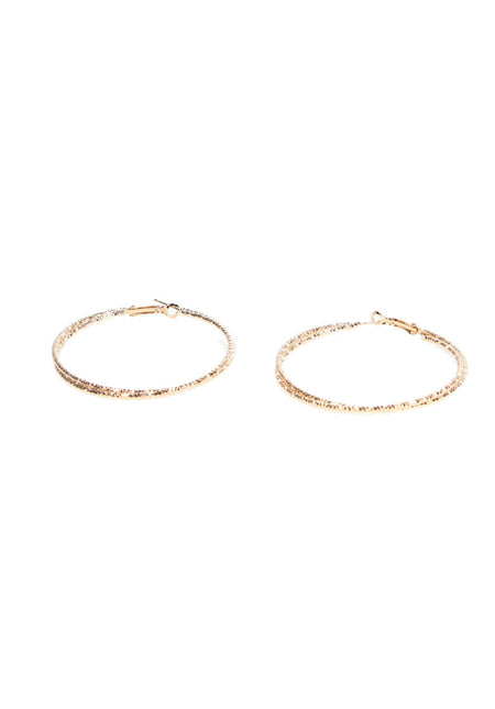 Gold Engraved Hoop Earrings