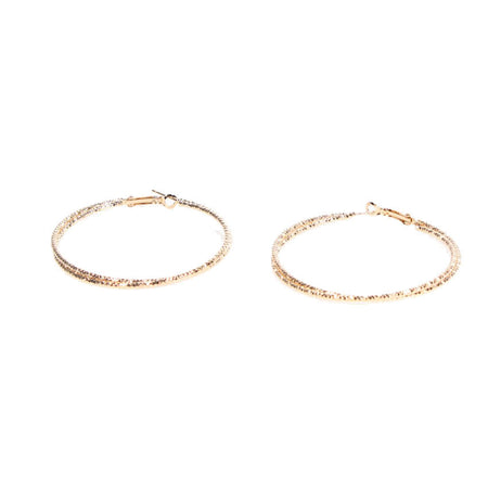 Gold Double Textured Hoop Earrings