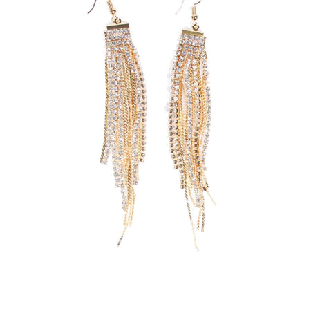 Gold Diamante Layered Earrings