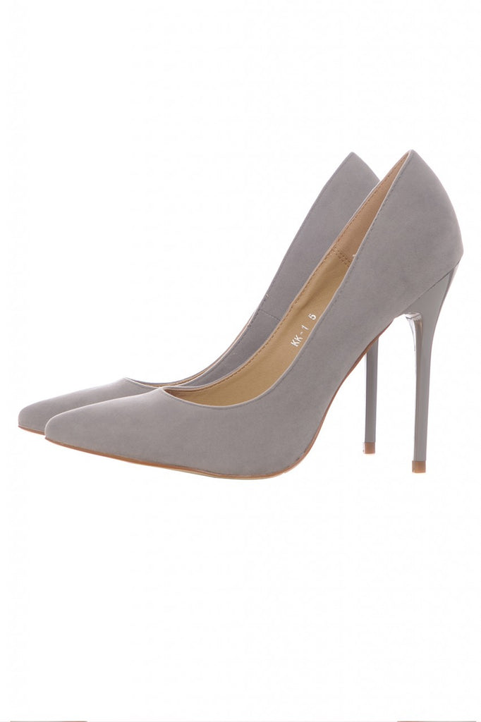 Faux Suede Court Shoes