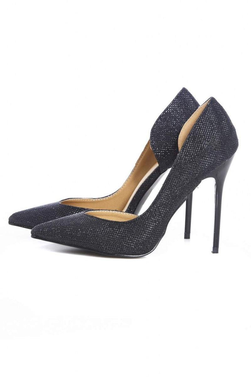 Shimmer Court Pointy Heeled Shoe