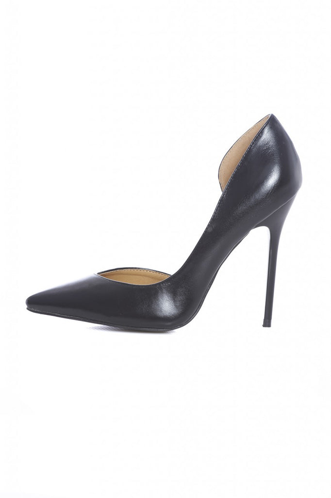 Patent Court Pointy Heeled Shoe