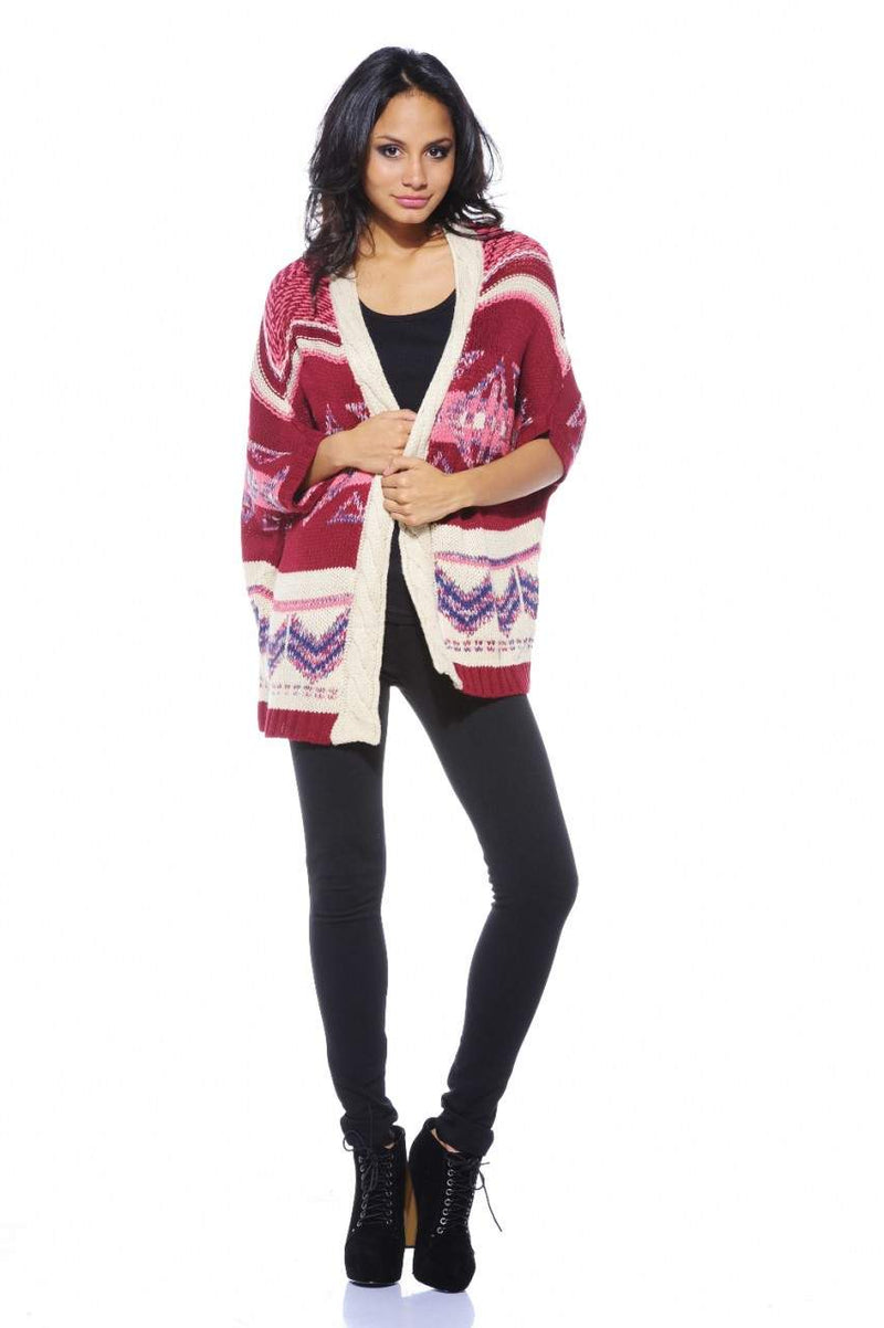 Bat Wing Knit triangle Cardigan