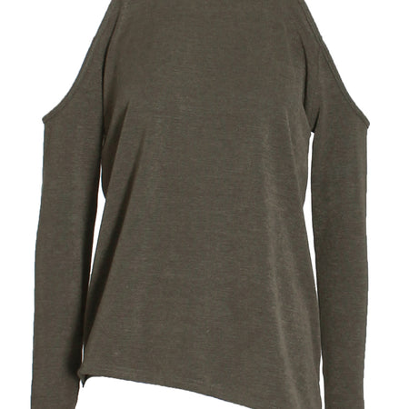 Khaki Cold Shoulder Jumper