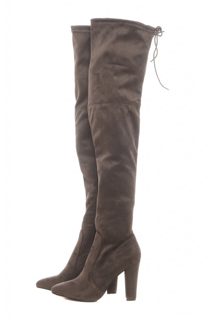 Pointed Knee High Boots
