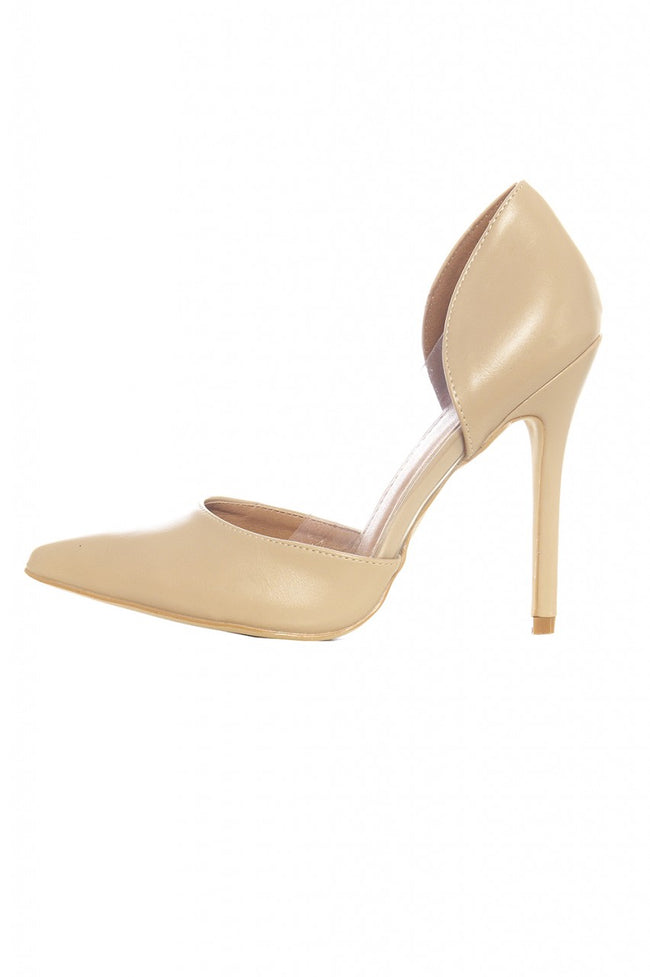Nude Perspex Insert Court Shoes