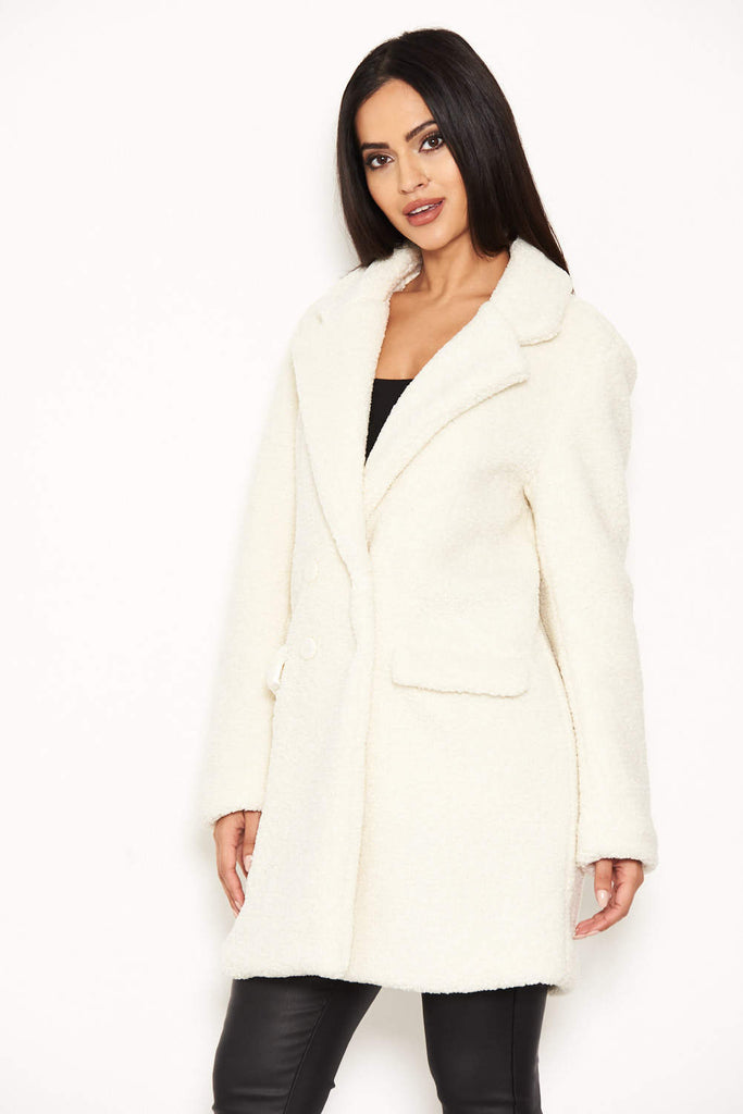 White Teddy Faux Fur Coat