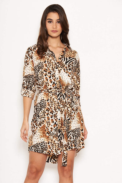 cd9f78a3ad5 Leopard Print Shirt Dress – AX Paris