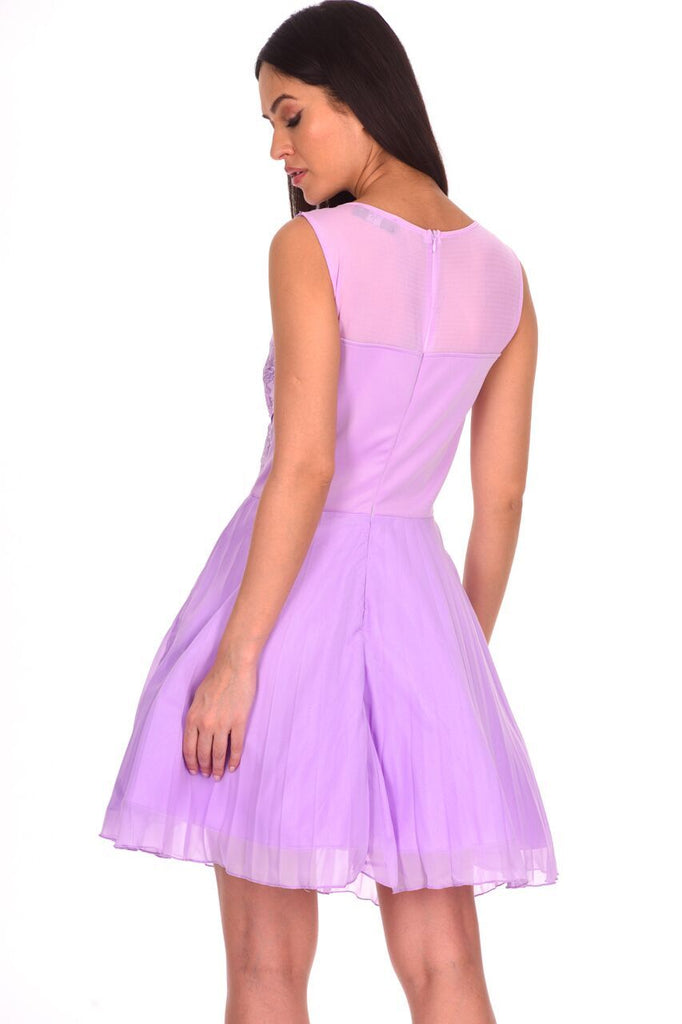 Lilac Crochet Lace Skater Dress