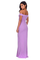 Lilac Off The Shoulder Maxi Dress