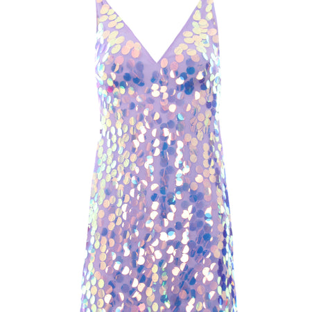 Lilac Sequin Swing Dress
