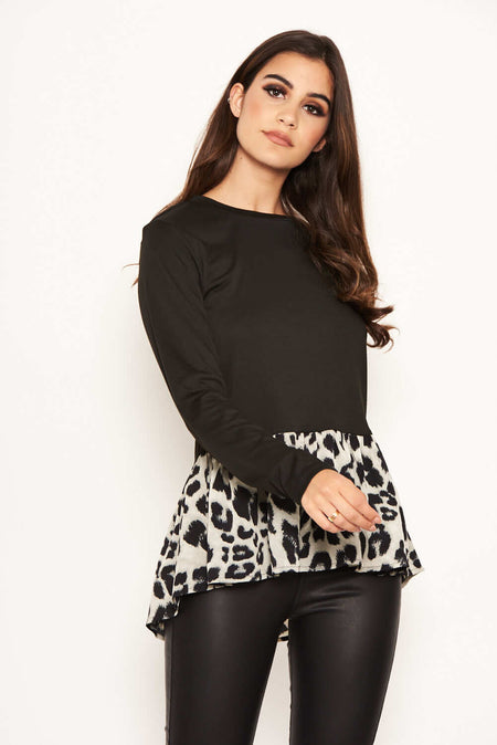 Grey And Black Zebra Knitted Jumper