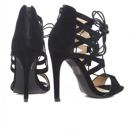 Lace Up Front Heels