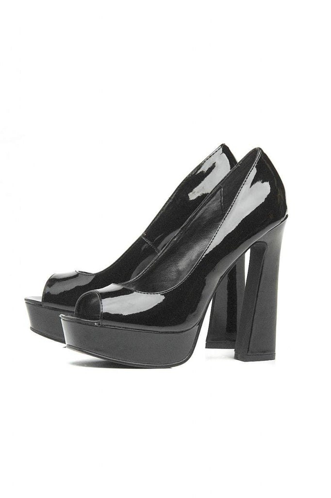 Block Heel  Peep Toe Shoe
