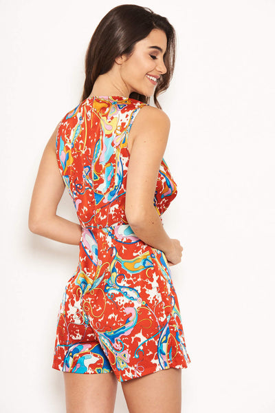 Multi Front Knot Playsuit