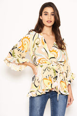 Multi Printed Wrap Over Top