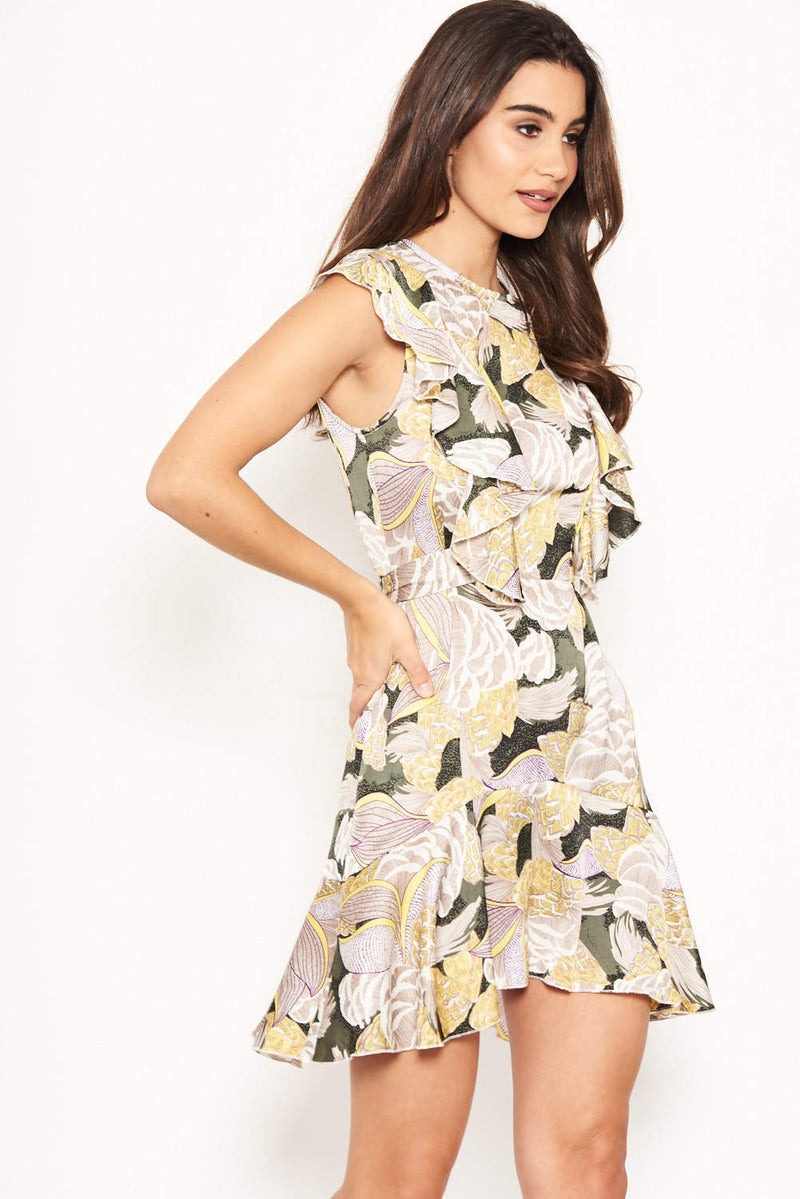 Multi Tie Front Day Dress