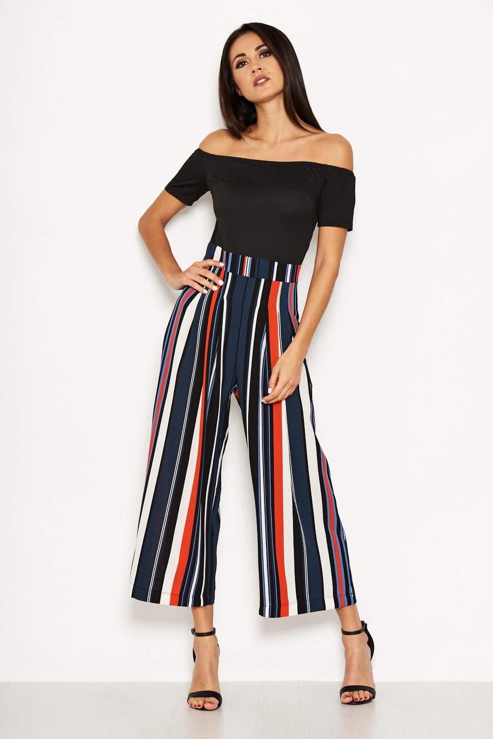 Multi Coloured Off The Shoulder Jumpsuit